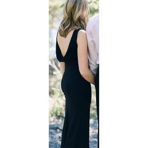 Lulus long black dress
